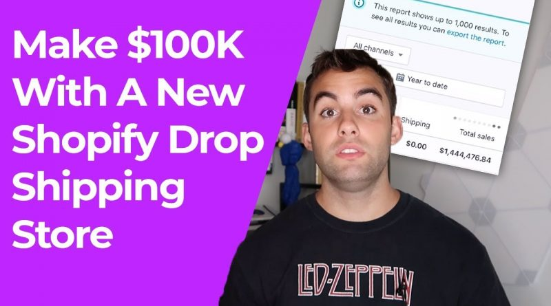 Easy Way To $100K With A New Shopify Drop Shipping Store In 30 Days